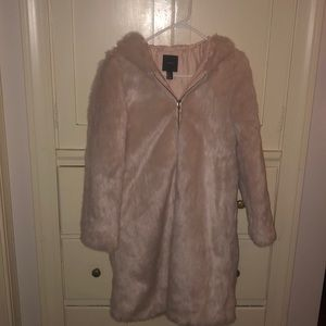 Light Pink Fuzzy Coat NWT From Forever 21!